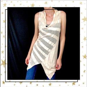 Sparrow Knit sleeveless asymmetric top tunic (c4)